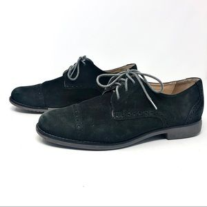 Cole Haan Black Suede Lace Up Oxford Shoes US 7